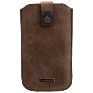 COMMANDER Tasche MILANO XXL5.7 Nubuk Gray für Samsung Galaxy S7 Edge / Apple iPhone 7 Plus