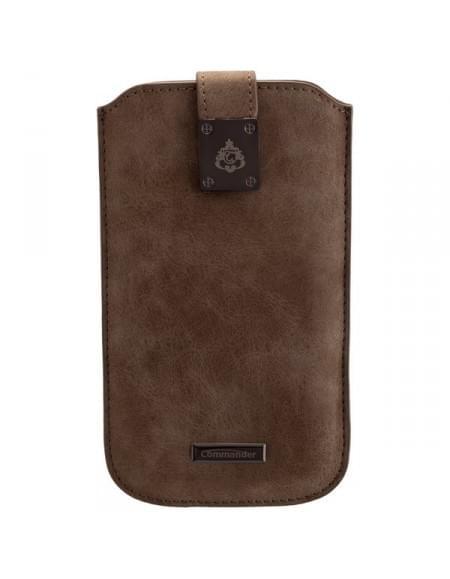 COMMANDER Tasche MILANO XXL5.7 Nubuk Gray für Samsung Galaxy S7 Edge / Apple iPhone 7 Plus
