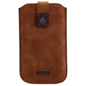 COMMANDER Tasche MILANO XXL5.7 Nubuk Brown für Samsung Galaxy S7 Edge / Apple iPhone 7 Plus