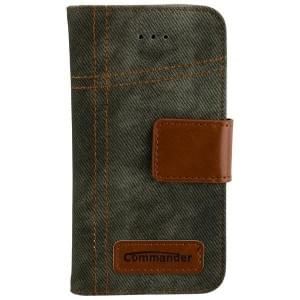 COMMANDER Jeans Handytasche Used-Jeans-Design für Apple iPhone 5 / 5S / SE
