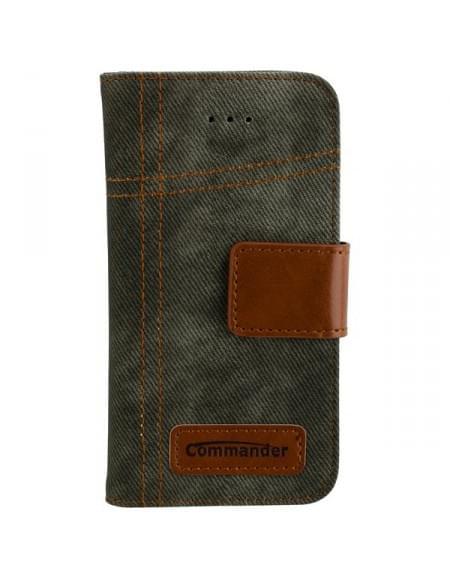 COMMANDER Jeans Tasche Used-Jeans-Design für Apple iPhone 5 / 5S / SE