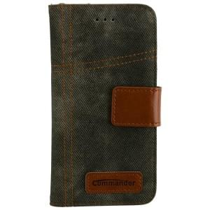 COMMANDER Jeans Handytasche Used-Jeans-Design für Apple iPhone 6 / 6S