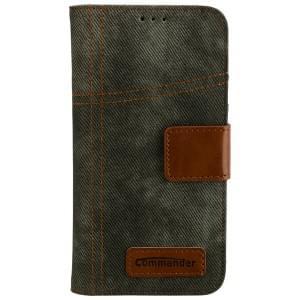 COMMANDER Jeans Handytasche Used-Jeans-Design für Samsung Galaxy S7