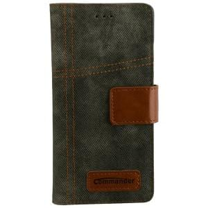 COMMANDER Jeans Handytasche Used-Jeans-Design für Huawei P9