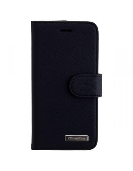 COMMANDER Premium Tasche ELITE Cross für Apple iPhone 7 - Schwarz