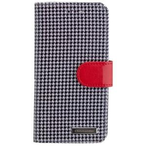 COMMANDER Premium Handytasche Pepita / Red für Apple iPhone 7 / 8