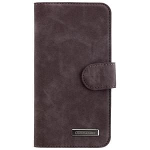 COMMANDER Premium Handytasche ELITE für Apple iPhone 7 / 8 - Nubuk Gray