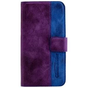 COMMANDER Premium Handytasche ELITE für Apple iPhone 7 / 8 - Purple/Blue