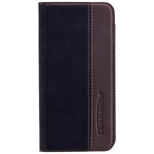 COMMANDER Premium BiColor Handytasche für Apple iPhone 7 / 8 - Gentle Black