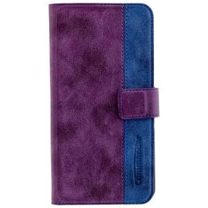 COMMANDER Premium Handytasche ELITE für Apple iPhone 8 Plus / 7 Plus - Purple / Blue