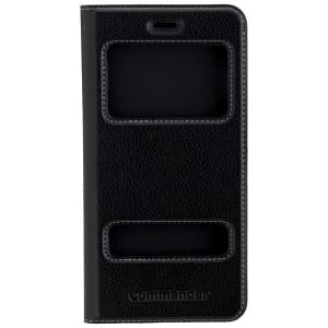 COMMANDER Premium Handytasche DOUBLE WINDOW für Apple iPhone 8 Plus / 7 Plus - Black