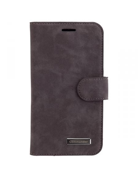 COMMANDER Premium Tasche ELITE für Samsung Galaxy J5 (2016) - Nubuk Gray