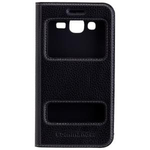 COMMANDER Tasche DOUBLE WINDOW Black für Samsung Galaxy J5 (2016) SM-J510