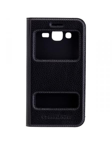COMMANDER Tasche DOUBLE WINDOW Black für Samsung Galaxy J5 (2016) SM-J510