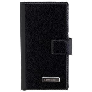 COMMANDER Premium Handytasche BOOK CASE ELITE für Sony Xperia X Compact - Black