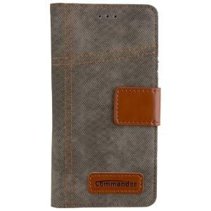 COMMANDER Tasche BOOK CASE ARMY JEANS für Huawei P8 Lite