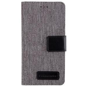 COMMANDER Premium Handytasche BOOK CASE DRESS GREY für Huawei P8 Lite