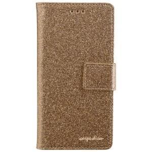 CARPE DIEM Handytasche Book Case BLING für Huawei P9 Lite - Gold