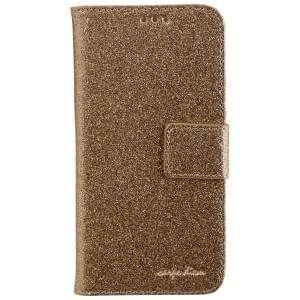 CARPE DIEM Handytasche Book Case BLING für Samsung Galaxy S7 - Gold