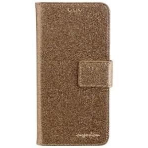CARPE DIEM Handytasche Book Case BLING für Samsung Galaxy A5 (2016) - Gold