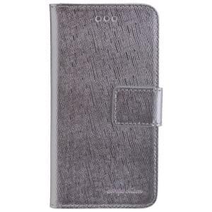CARPE DIEM Book Case Handytasche PARIS für Apple iPhone 6 / 6S - Silver
