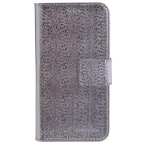 CARPE DIEM Book Case Handytasche PARIS für Samsung Galaxy S7 - Silver