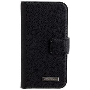 COMMANDER Handytasche BOOK CASE ELITE für Samsung Galaxy A3 (2017) - Black