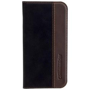 COMMANDER Handytasche BOOK CASE für Samsung Galaxy A3 (2017) - Gentle Black