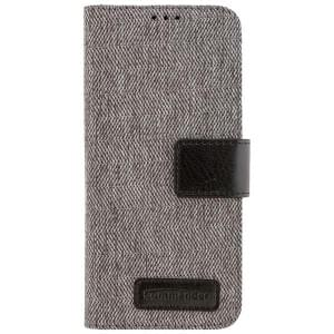 COMMANDER Handytasche BOOK CASE DRESS GREY für Samsung Galaxy S8