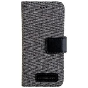 COMMANDER Handytasche BOOK CASE DRESS GREY für Huawei P10