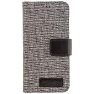COMMANDER Handytasche BOOK CASE DRESS GREY für Huawei P10 Lite