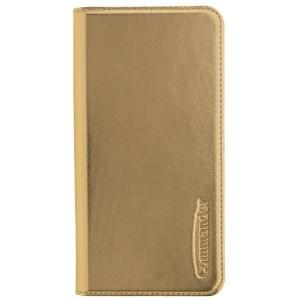 COMMANDER Handytasche BOOK CASE für Huawei P10 Lite - Metallic Gold