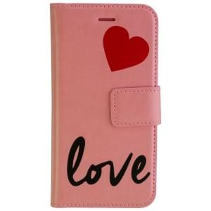 URBAN IPHORIA Handytasche 2in1 Book & Cover LOVE für Apple iPhone 7 / 8 - Pink