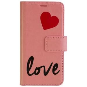 URBAN IPHORIA Handytasche 2in1 Book & Cover LOVE für Samsung Galaxy S7 - Pink