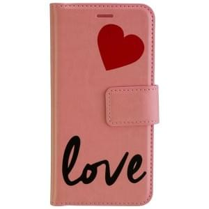 URBAN IPHORIA Handytasche 2in1 Book & Cover LOVE für Samsung Galaxy A3 (2017) - Pink