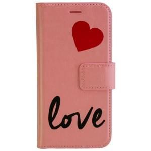 URBAN IPHORIA Book & Cover Handytasche 2in1 LOVE für Samsung Galaxy A5 (2017) - Pink