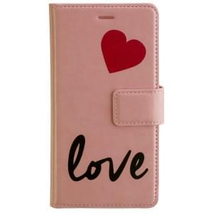 URBAN IPHORIA Book & Cover Handytasche 2in1 LOVE für Huawei P8 Lite 2017 - Pink