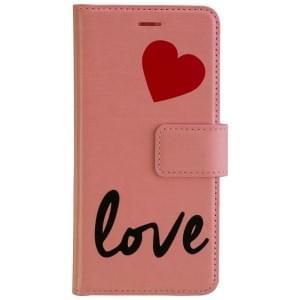 URBAN IPHORIA Handytasche 2in1 Book & Cover LOVE für Huawei P10 - Pink