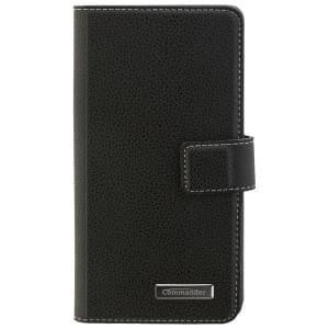 COMMANDER Handytasche BOOK CASE ELITE für Nokia 3 - Black