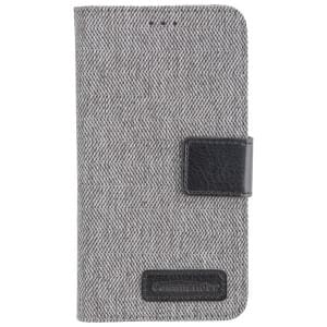 COMMANDER Handytasche BOOK CASE DRESS GREY für Samsung Galaxy J3 (2017)