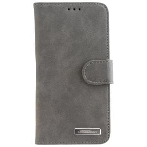 COMMANDER Handytasche BOOK CASE ELITE für Apple iPhone X - Nubuk Gray