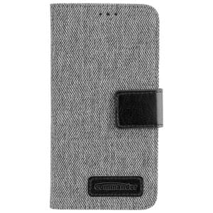 COMMANDER Handytasche BOOK CASE DRESS GREY für Apple iPhone X / Xs