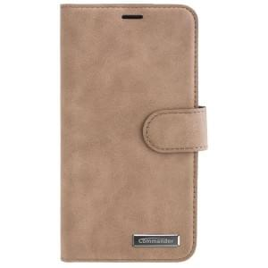 COMMANDER Handytasche BOOK CASE ELITE für Apple iPhone X - Nubuk Brown