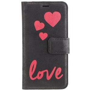 URBAN STYLE Book & Cover 2in1 Handytasche LOVE für Apple iPhone X - Black