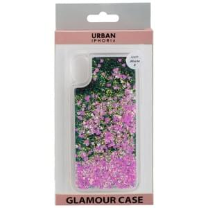 URBAN STYLE Back Cover GLAMOUR BLACK FRAME für Apple iPhone X - Pink