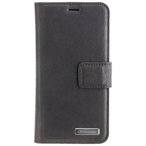 COMMANDER Book & Cover Handytasche 2in1 für Apple iPhone X / Xs - schwarz