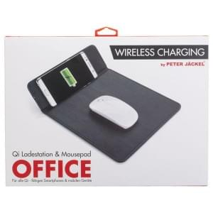 PETER JÄCKEL Qi Lader & Mousepad OFFICE Black