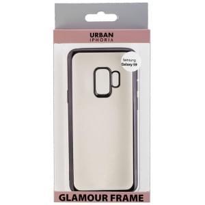 URBAN STYLE Back Cover GLAMOUR FRAME für Samsung Galaxy S9 - Black