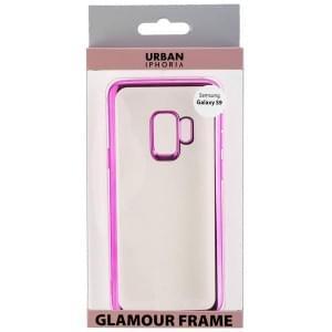 URBAN STYLE Back Cover GLAMOUR FRAME für Samsung Galaxy S9 Pink
