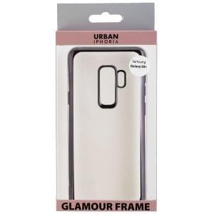 URBAN STYLE Back Cover GLAMOUR FRAME für Samsung Galaxy S9 Plus Schwarz